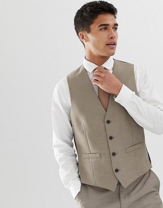 French Connection slim fit plain suit vest