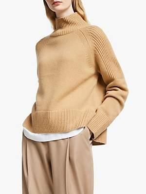 John Lewis & Partners Lambswool Wide Funnel Neck Sweater
