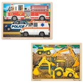 Melissa & Doug Toddler Construction/rescue Jigsaw Puzzles