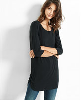 Express one eleven side ruched london tee