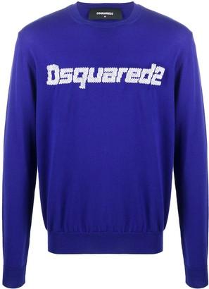 DSQUARED2 Logo-Jacquard Sweater