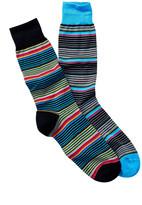 Jared Lang Alternating Stripes Crew Sock - Pack of 2