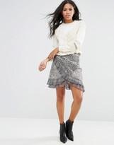 Free People Around the World Printed Wrap Skirt