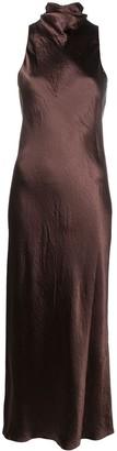 Vince Turtleneck Tie Column Dress