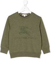 Burberry logo embroidered sweatshirt - kids - Cotton - 4 yrs