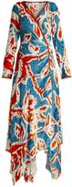 Peter Pilotto Floral-print velvet wrap dress