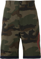 Moncler camouflage print shorts