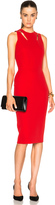 Victoria Beckham Double Crepe Sleeveless Cut Out Dress