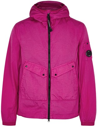 C.P. Company Bright pink hooded shell jacket