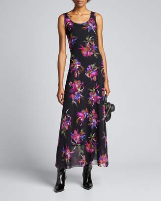 Fuzzi Bird of Paradise Maxi Tank dress