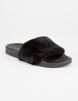 YOKI Faux Fur Womens Slide Sandals