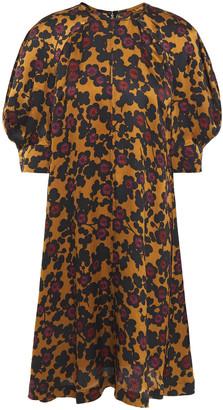 McQ Printed Hammered Silk-satin Dress
