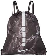 Nike Hoops Elite Gym Sack (Black/Black/Silver) Backpack Bags