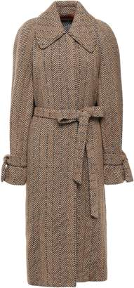 Missoni Herringbone Wool And Cotton-blend Jacquard Coat