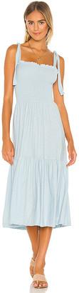 Nation Ltd. Farin Smocked Midi Dress