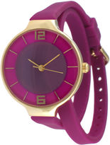JCPenney TKO ORLOGI Womens Purple Silicone Strap Wrap Watch