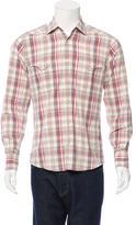 Gucci Plaid Button-Up Shirt