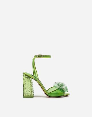 Dolce & Gabbana Cinderella Sandals With Sint Glass Heel