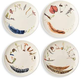 Juliska Forest Walk Set Of Four Sentiments Tidbits Plates