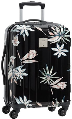 Pottery Barn Teen Roxy Channeled Hard-Sided Island Life Carry-on Spinner Suitcase