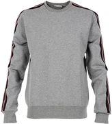 Christian Dior Grey Striped Detail Sweat-shirt
