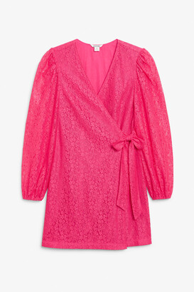 Monki Lace wrap dress