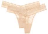 Calvin Klein Underwear Mesh Lace Thong (2 PK)