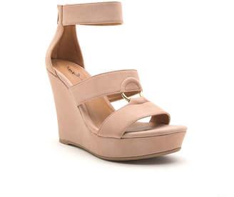 Qupid Womens Lena 638 Wedge Sandals