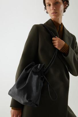 Cos Drawstring Leather Bag