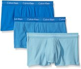 Calvin Klein Men's 3-Pack Cotton Stretch Low Rise Trunk, Blue/Grey Assorted, X-Large