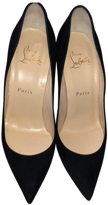 Christian Louboutin Pigalle Black Suede Heels