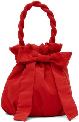 STAUD Red Grace Bow Bag