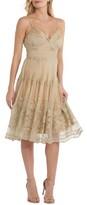 ECI Women's Pleat Bodice Mesh Dress