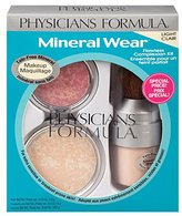 Physicians Formula Mineral Wear Flawless Complexion Kit, Light - Pressed Powder: 0.3 Ounce, Matte Finishing Veil: 0.58 Ounce & Pressed Blush: 0.19 Ounce