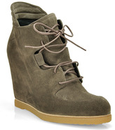 Stuart Weitzman Kidstuff - Taupe Lace Up Bootie