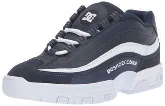 DC Women's Legacy LITE Skate Shoe Navy/White 5 M US