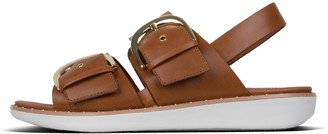 FitFlop Buckleup Leather Back-Strap Sandals