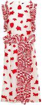 Simone Rocha tweed trim sheer dress