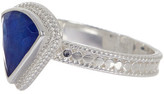 Anna Beck Sterling Silver Lapis Triangle Ring