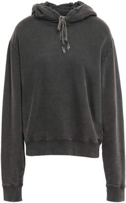 Saint Laurent Embroidered French Cotton-terry Hoodie