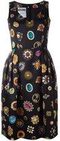 Moschino jewel print cocktail dress