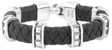 King Baby Studio Men's Braided Leather Bracelet