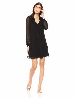 Kensie Women's Black Chiffon Dress 8