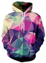 Uideazone Men 3d Nebula Star Pullover Hoodie Sweatshirt Cool Outwear Coat
