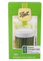 Ball Set of 8 Wide Mouth Plastic Storage Caps