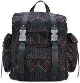 Valentino printed backpack - men - Leather/Polyester - One Size