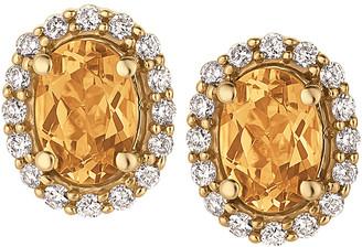 LeVian Le Vian 14K 1.37 Ct. Tw. Diamond & Yellow Beryl Earrings