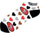 For Bare Feet San Francisco 49ers Lady Heart Logo Repeat Sock