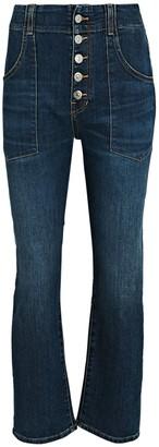 Veronica Beard Arya Cargo Straight Crop Jeans