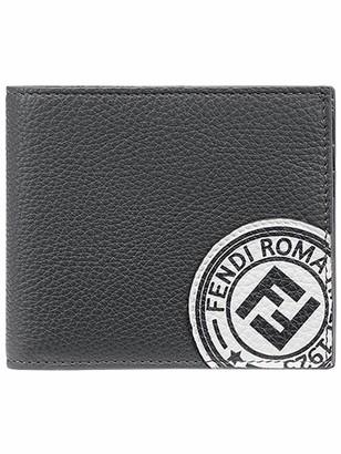 Fendi Logo Stamp Bi-Fold Wallet